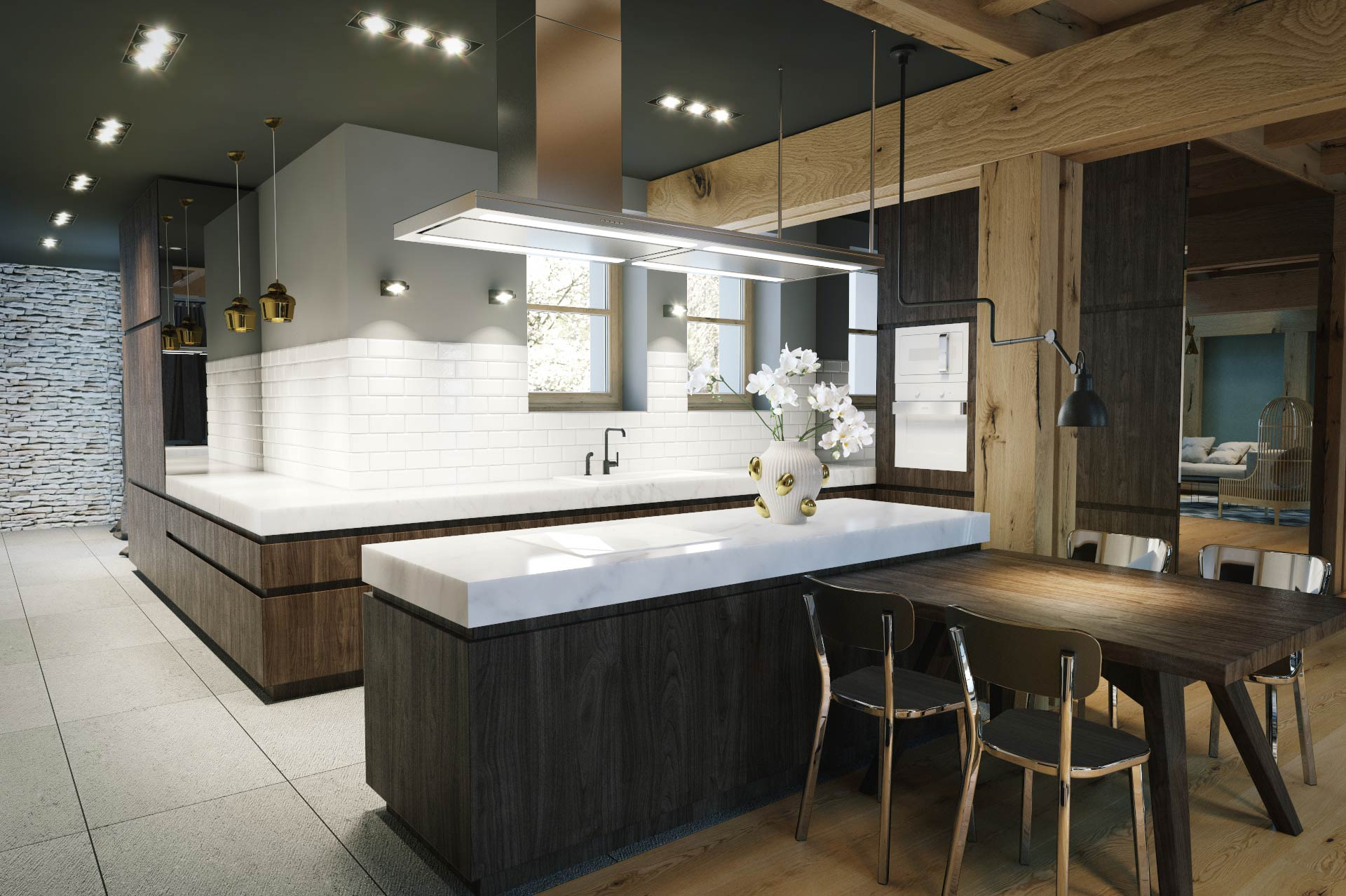 Visualization of a kitchen in detached house