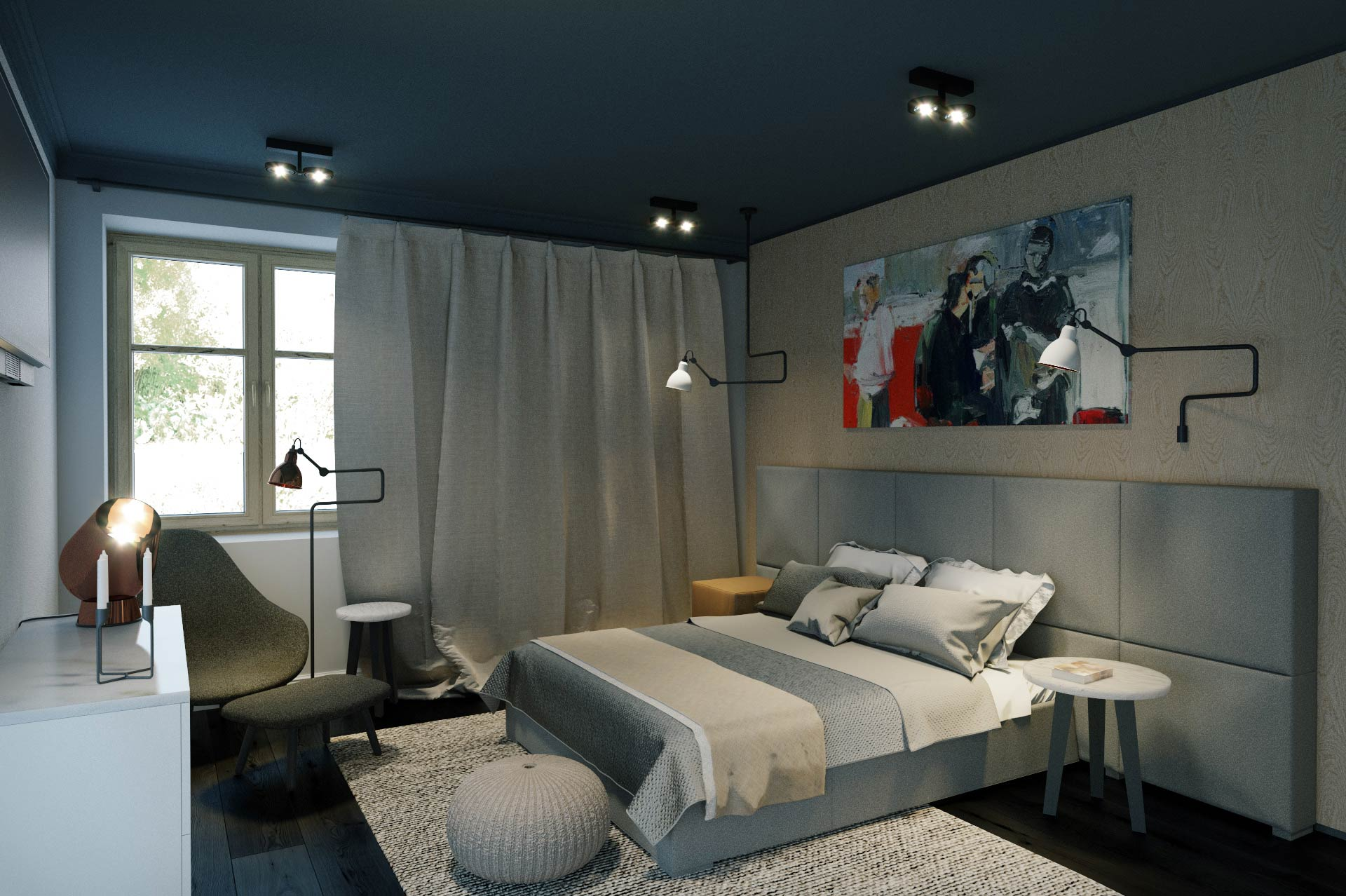 CGI of a bedroom