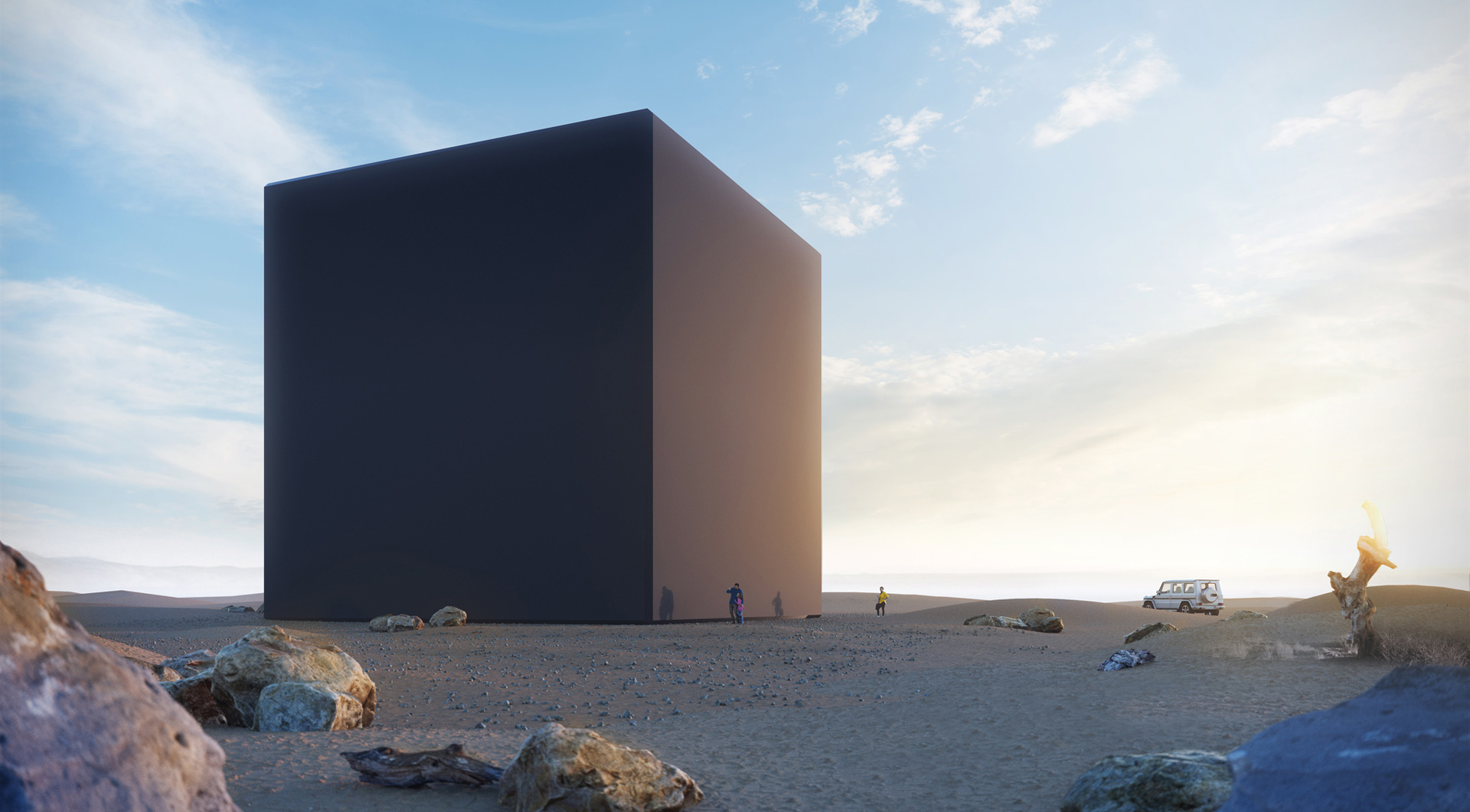 Monolith - 3D visualization by day light