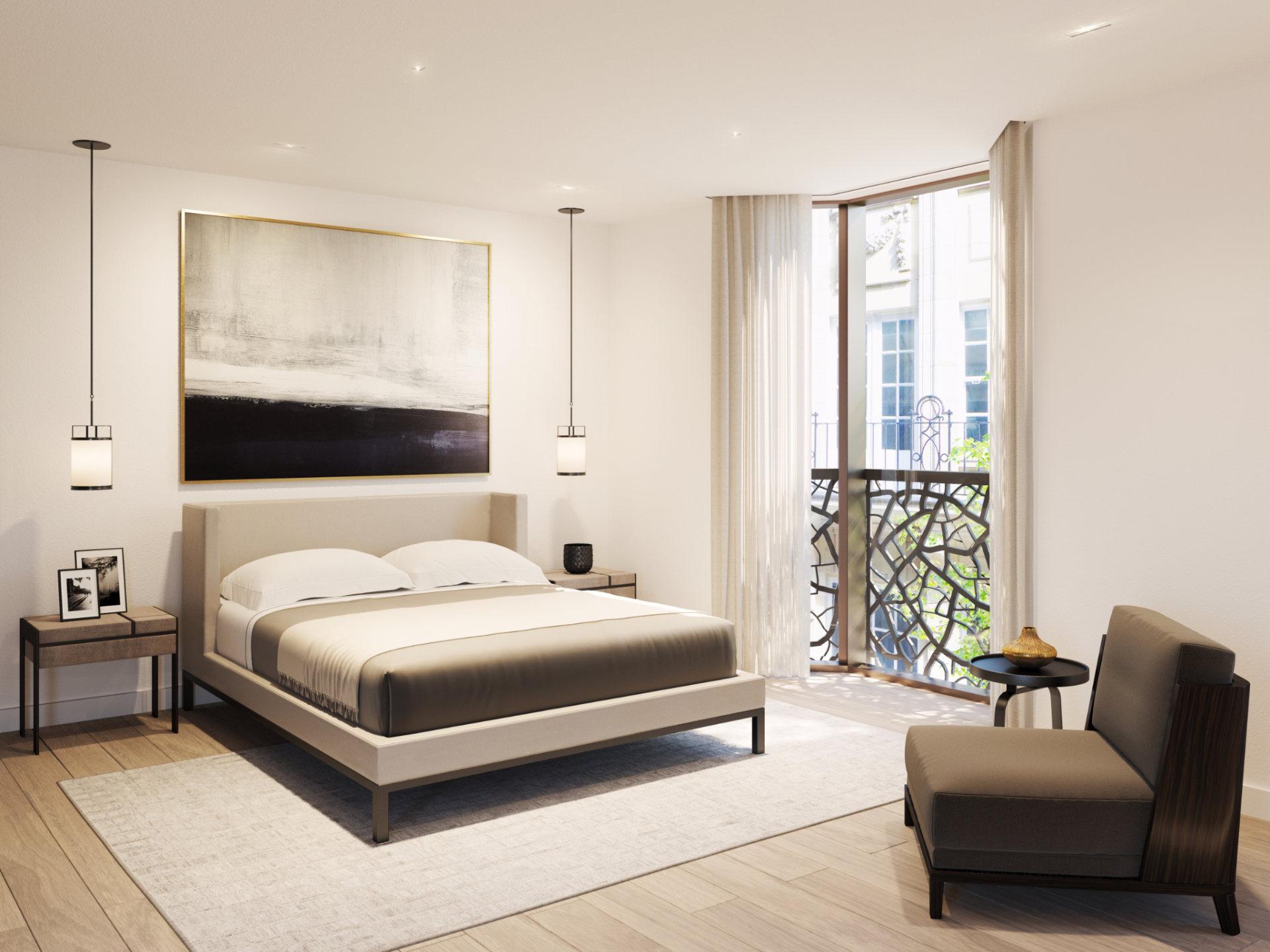 CGI - Bowden Architecture GreatPortland - Bedroom
