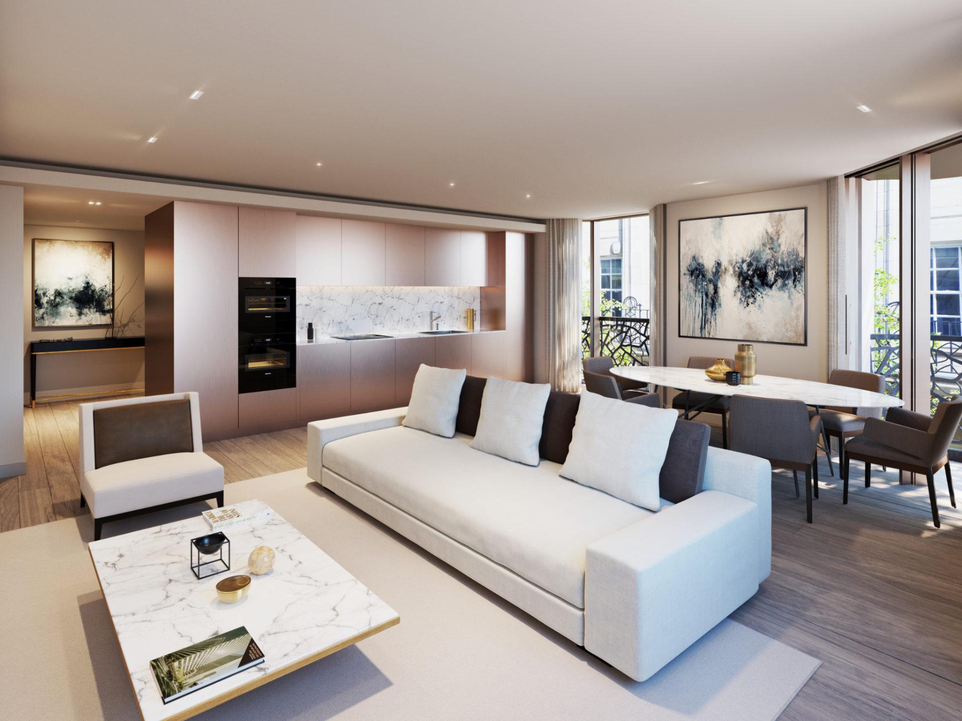 CGI - Bowden Architecture GreatPortland - Kitchen